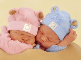 Pink and Blue hats